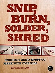 Snip, Burn, Solder, Shred: Seriously Geeky Stuff to Make with Your Kids by [Nelson, David Erik]