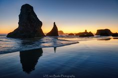 Reflections on Bandon Beach ---by Erwin Buske on 500px