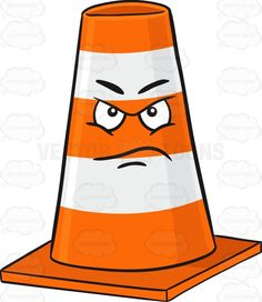 Upset Traffic Cone Character With Infuriated Look Emoji #angered #angry #barrier #block #bollards #cars #cone #cones #control #disturbance #emoji #emoticon #enraged #equipment #furious #glaring #infuriated #maddened #management #mobile #orange #plastic #posts #safety #safetycone #safetycones #smiley #smilies #stripe #striped #stripes #traffic #trafficcones #trafficcontrol #trafficequipment #trafficmanagement #trouble #trucks #upset #vehicles #white #vector #clipart #stock
