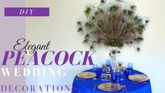 In this video I show you how to make easy DIY Peacock Wedding decorations. The DIY Peacock Centerpiece is to die for, and would look amazin. Peacock Wedding Centerpieces, Diy Centerpieces, Kids Party Decorations, Wedding Reception Decorations, Wedding Ideas, Centerpiece Rentals, Dollar Tree Wedding, Wedding Playlist, Elegant Wedding