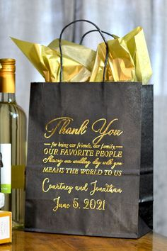 So you've decided to personalize your gift bags for your wedding. Whether you're using the bags for hotel welcome bags, bridal party gifts, favors, or anything in between, it … Wedding Gift Bags, Wedding Welcome Bags, Unique Wedding Favors, Wedding Souvenir, Wedding Decorations, Hotel Wedding, Our Wedding, Wedding Reception, Reception Ideas