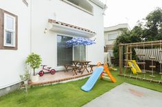 【アイジースタイルハウス】遊ぶ。アスレチックや滑り台のある庭も子どもたちのお気に入りの遊び場