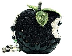 Mary Frances Wicked Black Apple Crystal Green Bag Purse Handbag NEW Fairy Tale Beaded Purses, Beaded Bags, Beaded Bracelets, Embroidery Jewelry, Beaded Embroidery, Mary Francis, Mary Frances Handbags, Crystal Beads, Crystals