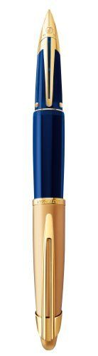 Waterman Edson Sapphire Blue Gold Plated Trim Fine Nib Fountain Pen - Gift Boxed by Waterman, bit sad but hey!