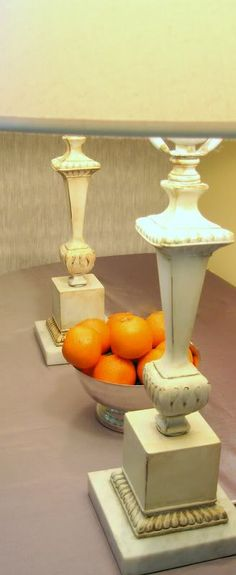 Excellent tutorial on making over thrift store lamps.