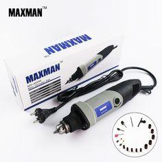 Maxman 전문 전기 미니 다이 그라인더 0.6 ~ 6.5 미리메터 척 가변 속도 로터리 도구 다기능 diy 멀티 전원 도구