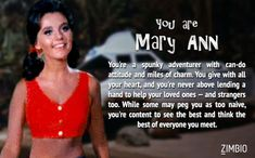 I took Zimbio's 'Gilligan's Island' quiz, and I'm Mary Ann! Who are you?