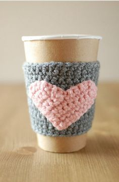 Crochet coffee holders