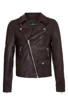 Topman Leather Biker Jacket | Nordstrom