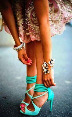 Mint high heels