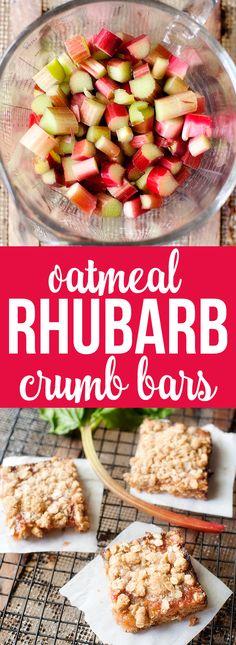 oatmeal rhubarb crumb bars