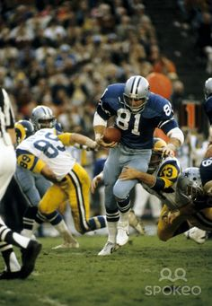 That is Jackie Smith #81 1978 NFC CHAMPION DALLAS COWBOYS | ... 1978 NFC Championship Game at the Coliseum. The Cowboys defeated the