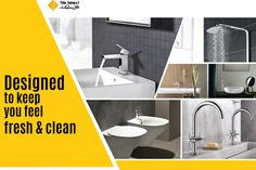 Designed to keep you feel fresh & clean! Madina, Fresh And Clean, Pakistan, Sink, How Are You Feeling, Cleaning, Ceramics, Shower, Feelings