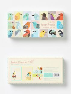 Avian friends sticky notes. At Anthropologie. Design by Geninne D. Zlatkis.