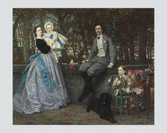 TISSOT Retrato del marqués y de la marquesa de Miramon y de sus hijos