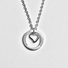 HALO in my HEART Necklace by HEAVENSBOOK on Etsy