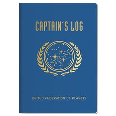 The Unemployed Philosophers Guild Star Trek Captain ́s Log Large Notebook Star Trek Merchandise, Captain Quotes, Space Captain, Star Trek Gifts, Prime Directive, United Federation Of Planets, Star Trek Captains, Star Trek Original Series, Pocket Notebook