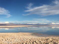 Laguna no Salar de Atacama.