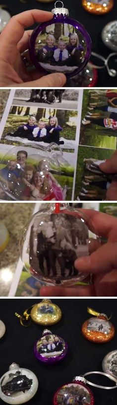 DIY Christmas Photo Ornaments | DIY Christmas Gifts for Family Inexpensive | Handmade Christmas Gifts for Friends