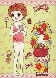 Miss Missy Paper Dolls: Japanese kimono paper dolls*** Paper dolls for Pinterest friends, 1500 free paper dolls at Arielle Gabriel's International Paper Doll Society, writer The Goddess of Mercy & The Dept of Miracles, publisher QuanYin5