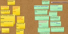 Teaching Types of Sentences Using Virtual Sticky Notes use for primary