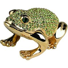 Dazzling Green Frog Crystal Trinket box--- I have this little guy, so cute...