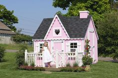 Little Cottage Company Playhouses Wooden Victorian Outdoor Playhouse, Price: $1,149.00