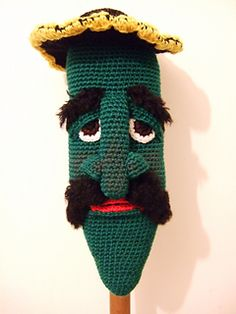 This is my free pattern for a jalapeno on a stick.