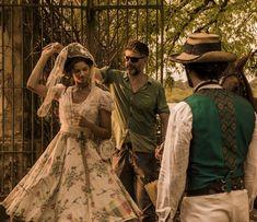 Velho Chico novela, figurino, Leonor (Marina Nery) vestido de casamento roceira