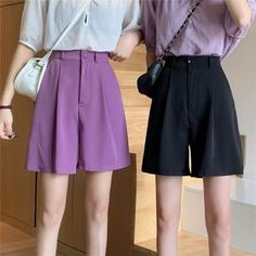 High Waisted Shorts, Ulzzang, Harajuku, Short Dresses, Plus Size, Buttons, Clothes For Women, Elegant, Casual
