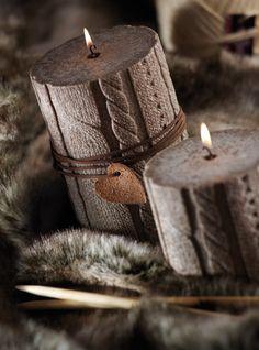 Les bougies tricotées, tendance de cet automne !
