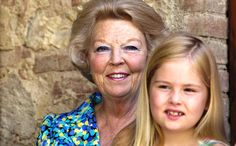Leuk: prinses Beatrix op vakantie met de kleinkinderen
