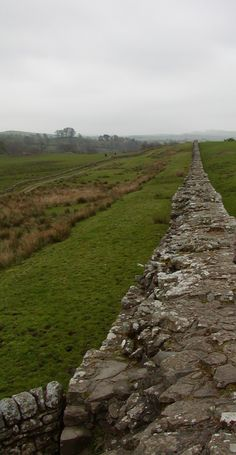 the amazing Hadrian's Wall at Birdoswald Roman Fort, Northern England  photo©jadoretotravel
