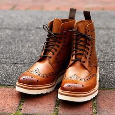 Grenson Fred Men's Six Inch Wingtip Boots