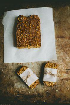 soft pumpkin granola bars - gluten and dairy free