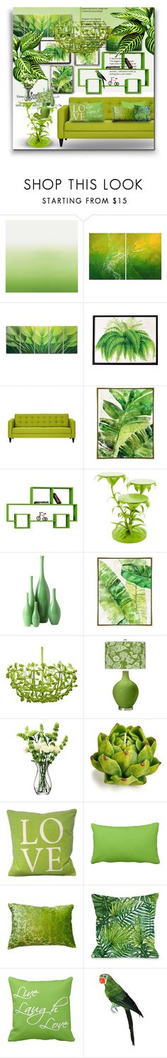 """""""Greenery: Pantone Colour Of 2017! - Contest entry!"""" by asia-12 ❤ liked on Polyvore featuring interior, interiors, interior design, home, home decor, interior decorating, Designers Guild, Wallace, Barclay Butera and Global Views"""