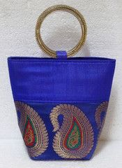 Ink Blue colour  Designer Clutches : Tejal Collection -  YF-40826