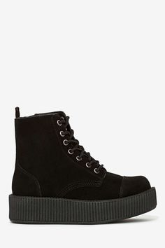 T.U.K. Mondo Suede Hig Top Creeper | Shop Shoes at Nasty Gal