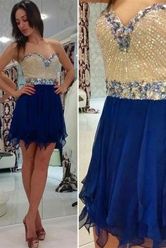 Chiffon Beading Sweetheart Homecoming Dresses,Pretty Classy Homecoming Dress