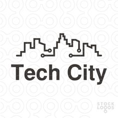 logo design of a city skyline with electric circuit, ( creative, creativity, engineering, electronics, data, computing, buildings, app etc)
