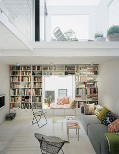 A wall full of books, just what we've always dreamed of