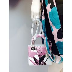 DIOR Lady Dior painted bag small size with shoulder strap Contact me to ShopShip it for you, and deliver at your place.