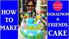 How to make Doraemon cartoon games 2 tier birthday cake design:doremon cake decorating video 1st Birthday Cake Designs, 1 Year Old Birthday Cake, Easy Kids Birthday Cakes, Easy Cakes For Kids, Birthday Cake Gift, Cartoon Birthday Cake, 1st Birthday Cake For Girls, Frozen Birthday Cake, Homemade Birthday