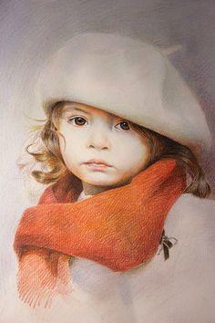 tutorial of  portrait.(Pencil,Colored Pencil & Charcoal) - 中国手绘俱乐部 - 中国手绘俱乐部