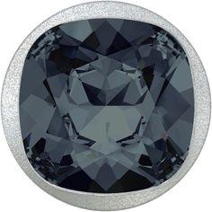 Swarovski® 1810 Button with a Swarovski® 4470 Fancy Stone in the brand new color Graphite (253)