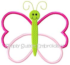 Butterfly Machine Embroidery Applique by SimplySweetEmbroider, $3.00