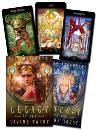 Legacy of the Divine Tarot. One of my favourite decks, though the cards are a little light. The illustrations are fabulous.
