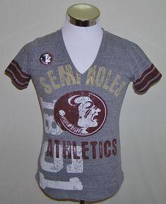 Florida State Seminoles Women's G III Carl Banks Sexy V Neck T-Shirt Size Small #GIIIForHer #FloridaStateSeminoles