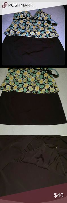 IT Figuers  Bathing suit 2pc, Brand new never worn 2pc Tankini blue brown gold nwot It Figuers Swim