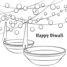 Happy Diwali coloring page | Free Printable Coloring Pages